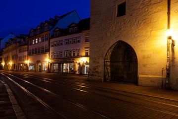 Erfurter Marktstraße am Morgen
