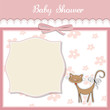 new baby shower card with cat