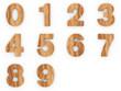 3d Font Wood Numbers