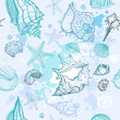 Sea background. Hand drawn vector illustration