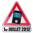 0,50 g/l hethylotest en france - juillet 2012