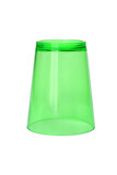 Inverted Green Plastic Cup