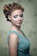 Portrait of beautiful girl. retro style