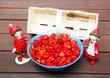 Es gibt Erdbeeren