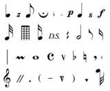 Plaquette de ponctuations musicales