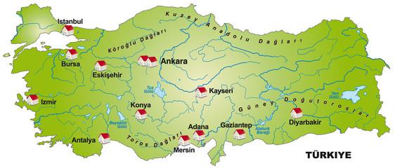 Internetkarte der Türkei