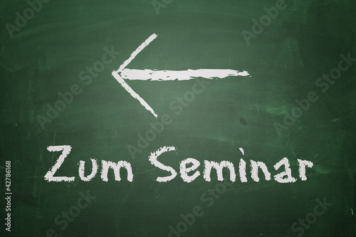 Tafel - Zum Seminar links