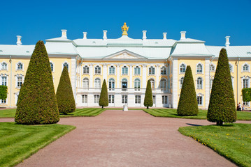 grand palace in peterhof, russia