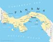 Постер, плакат: Panama Map Panama Landkarte