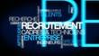 Recrutement job entreprise animation video nuage de mots