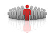 Konzept Teamwork, Sozial, Stärke