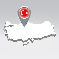 Turkey geo location background