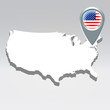 USA geo location background