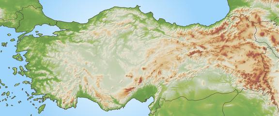 Schummerung der Türkei