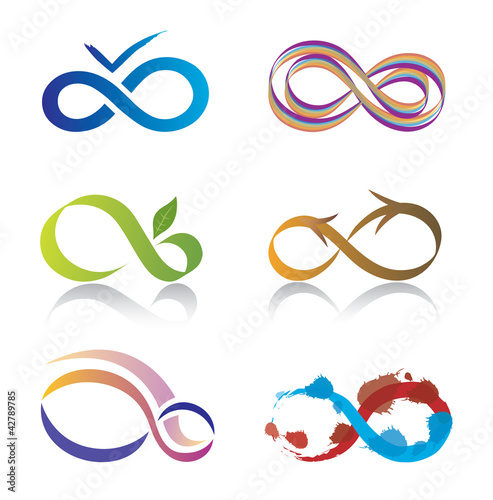 Ensemble d'Icones Symbole Infini