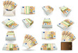 full set of fifty euros banknotes