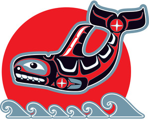Orca - Killer Whale - Native American Style
