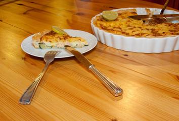 Lachs-Zucchine-Quiche