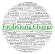Facilitating Change concept in word tag cloud