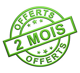 Label 2 Mois Offerts