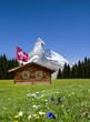 Matterhorn mit Alphütte
