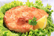 Pan fried salmon patty