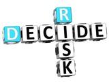 3D Risk Decide Crossword poster