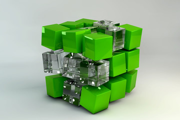 3D Box of cubes