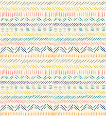 Seamless doodle pattern in ethnic style #2