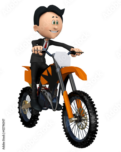 businessman on the bike