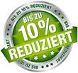 """Button Banner """"Bis zu 10% reduziert"""" grün/silber"""