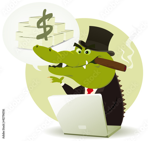 Crocodile Bankster Crook
