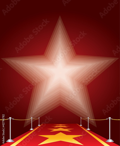 red carpet red star