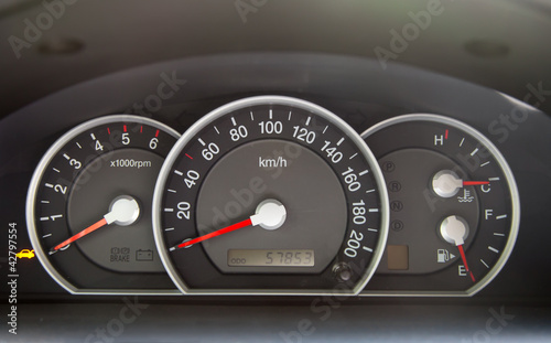 Speedometer  in the car