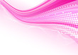 Pink abstract background with dotted wavy line