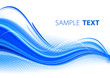 Abstract blue waves with dotted effect. Vector