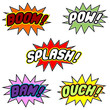 Comic book balloons isolated over white background