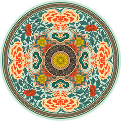 Chinese Detailed Traditional Pattern Rosette