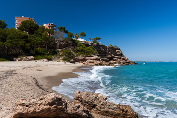 Beautiful small beach on the coast of Catalonia