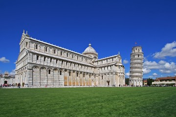 Pisa, the Basilica and the leaning tower.