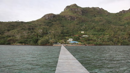 Jetty at Maupiti Lagoon
