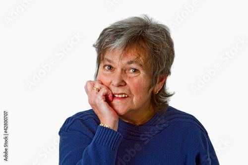 Portrait von Seniorin