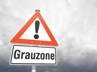 Schild: Grauzone