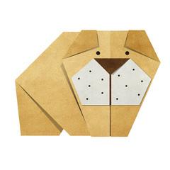Origami bulldog Recycled Papercraft