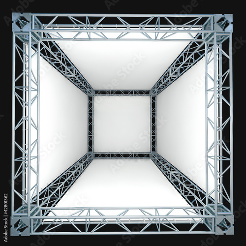 truss system with blank banners