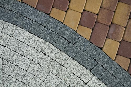 pattern on the pavement - 42801786