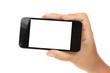 hand holding a modern phone