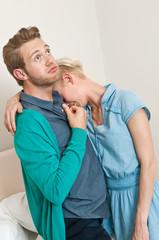 Überrumpelter Mann, Konflikt, Paar, Eheprobleme, Beziehung