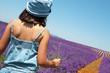 Provence - Enfant dans les lavandes