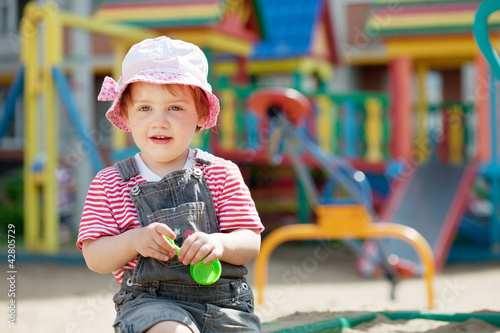 Portrait of two-year child at playground